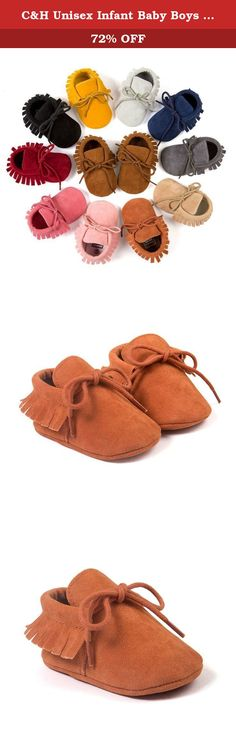14005f04d43 C H Unisex Infant Baby Boys Girls Shiny Leather Soft Tassels Anti-Slip  Prewalker Shoes (. 18 MonthsChildrenKidsMoccasinsBaby ...