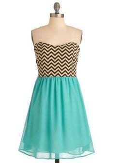 Chevron Top of the World Dress | Mod Retro Vintage Dresses | ModCloth.com