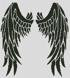 Angel Wings Cross Stitch Pattern #angel #wings #meowstitch #crossstitch #embroidery #needlework #pattern #stitch