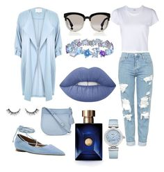 """Blue Heaven"" by michaelmartin714 on Polyvore featuring River Island, Michael Kors, Kate Spade, Catherine Malandrino, Christian Dior, Topshop, RE/DONE, Lime Crime, Versace and OMEGA"