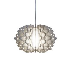 Pendant 'Karin', made out of cardboard, by German manufacturer him+her  #lamp #pendant #cardboard