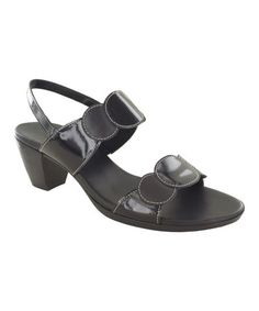 Look at this #zulilyfind! Black Solar Patent Leather Sandal by Munro Shoes #zulilyfinds