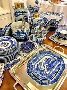Mottahedeh blue and white- looking forward to seeing the showroom in High Point this month.