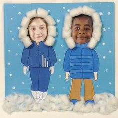 Printable Winter Clothes For Photos, fun and cute these are the only two outfits they have but could make your own.