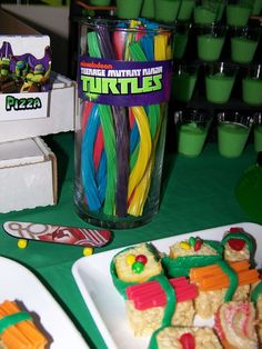 Teenage Mutant Ninja Turtles Birthday Party Ideas | Photo 6 of 39 | Catch My Party