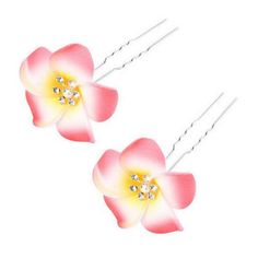 5PCS Beautiful Artificial Flower Hair Decoration Hair Pin Clip For Ladies, Red *** Click image for more details. (Note:Amazon affiliate link)