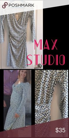 MAX STUDIO WRAP DRESS Like new. First picture from when I first purchased it. But still in perfect condition. No stains or flaws. Perfect for work. Worn handful of times. Max Studio Dresses