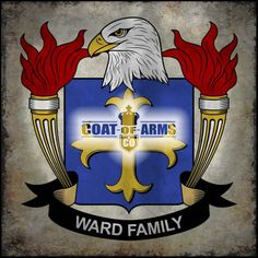 Ward Family Crest - American Coat of Arms