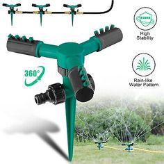 360° Auto Rotating Lawn Garden Sprinkler Watering System Water Spray Grass Yard #deals #discounts #gardening Garden Sprinklers, Water Spray, Gardening Supplies, Lawn And Garden, Grass, Yard, Gardening, Patio, Garden Supplies