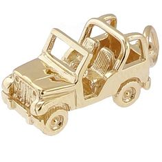 Jeep Charm $40.50 https://www.charmnjewelry.com/gold-charms.htm #GoldCharm