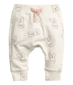 Sweatshirt and Pants | Natural white/rabbits | Kids | H&M US