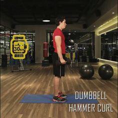 6 haftada fit programının 2. haftasının dokuzuncu hareketi:DUMBBELL HAMMER CURL.