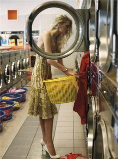 glamorous at the laundromat