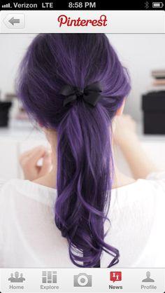 Dark violet hair !!