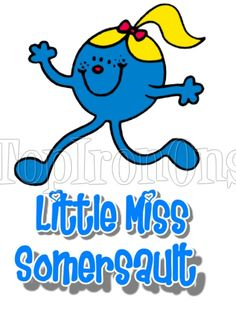 Mr. Men and Little Miss Somersault T Shirt Iron on Transfer #39