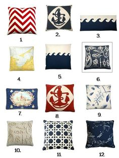 Dransfield and Ross Nautical Pillows
