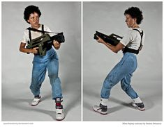 Costume: Ellen Ripley from Aliens by mandomemory on deviantART