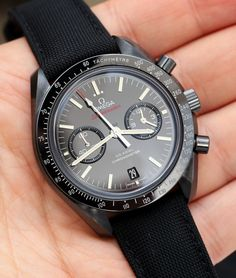 Omega Speedmaster Co-Axial Chronograph Dark Side Of The Moon Black Ceramic Watch Dream Watches, Cool Watches, Rolex Watches, Omega Speedmaster Co Axial, Omega Seamaster, Expensive Watches, Luxury Watches For Men, Beautiful Watches, Fashion Watches