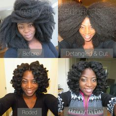 Myblesssdhands before and after rolling knotless crochet braids