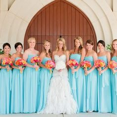 Colors. It's decided. Turquoise and Coral.