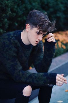 (Open rp, he's gay.) Connor) I sigh softly as I look around, enjoying the peace and quiet until I hear.........