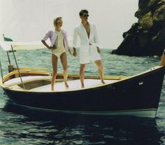 Josh Hartnett & Gemma Ward in Portofino #Italy #boat #camillestyles