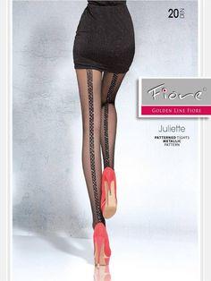 Maak je feestelijke outfit helemaal af met de Juliette naadpanty van Fiore! De Juliette is een lichtglanzende, 20 denier panty met een glinsterende lurexnaad aa