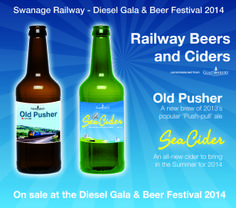 Don't forget to pick up your bottle of our specially brewed beer and cider at our diesel gala! www.swanagerailway.co.uk Stocks strictly limited, and its very tasty so don't delay!