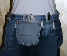 Sewing Tool Belt out of Jeans