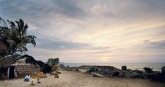 Man on the beach in Sri Lanka