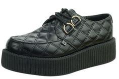 47653eedabc7d T.U.K. Black Quilted Vegan Viva Mondo Creepers - Suicide Glam Australia  Alternative Shoes