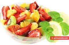 Fruit Salad Macedonia with Kiwi, Strawberries, Oranges   Desserts   Genius cook - Healthy Nutrition, Tasty Food, Simple Recipes