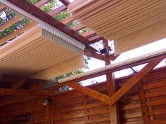 Pergole retractabile MED 85, pergole Gibus fara structura. Se pot monta pe orice tip de structura existenta de lemn, aluminiu, fier s.a.m.d. Pergole Gibus de calitate cu pret excelent.