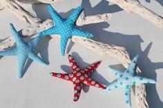 Seesterne maritimen Stoff / starfish made of colourful, maritime pattern by BegeiStern via DaWanda.com