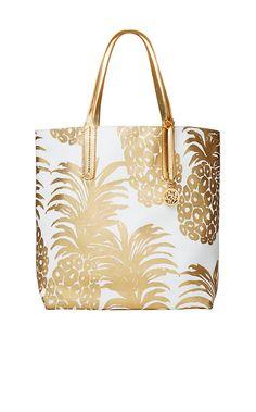 d82a5b561e Reversible Shopper Tote Bag - La Via Loca - Lilly Pulitzer Pineapple  Jewelry