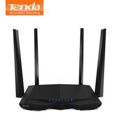 Tenda AC6 1200 Мбит/с smart dual-Band 802.11AC 2.4 г/5.0 ГГц Гигабитный беспроводной Wi-Fi маршрутизатор Wi-Fi ретранслятор, Приложение управлять, английский прошивк...
