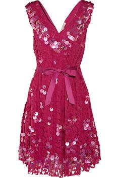 lace taffeta pink dress by nina ricci