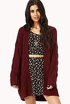Longline Mixed Knit Cardigan