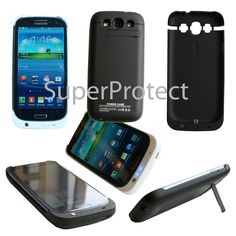 £7.95 GBP - Power Bank Portable Battery Charger Case / Cover Samsung Galaxy For S3 I9300 #ebay #Electronics