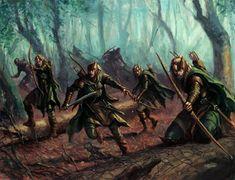 Wood Elves by Karl Kopinski | Art of Warhammer