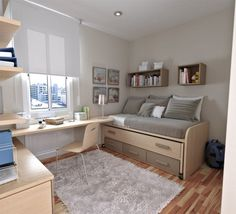Compact Study Room Designs To Help Your Kids Study 50 Thoughtful Teenage Bedroom Layouts Bedroom Furniture, Bedroom Decor, Bedroom Ideas, Kids Bedroom, Bedroom Designs, Master Bedroom, Bedroom Sofa, Grey Furniture, Furniture Layout