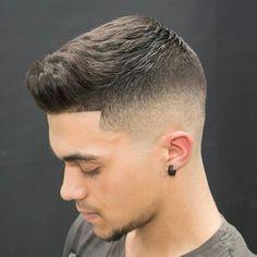 Skin Fade Haircut / Bald Fade Haircut Styles Update) Medium Bald Fade with Crew CutMedium Bald Fade with Crew Cut Fade Haircut Styles, High Fade Haircut, Tapered Haircut, Short Hair Styles, Mens Fade Haircut, Medium Fade Haircut, Undercut Hairstyles, Hairstyles Haircuts, Cool Haircuts
