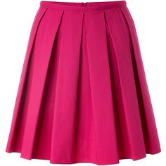 RED VALENTINO Stretch Cotton Pleated Skirt ($200) ❤ liked on Polyvore featuring skirts, bottoms, saias, faldas, pleated a line skirt, red valentino skirt, pleated skirt, red valentino and a line skirt