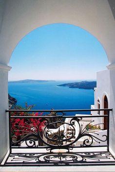 Veranda View in Fira, Santorini