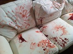 Rose' mum was murdered on the sofa and this made Rose have to redecorate and throw away the furniture. (Everything was covered in blood.)