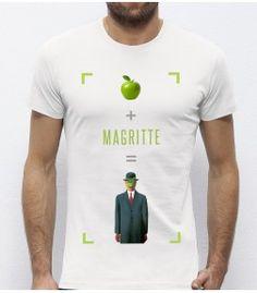 T-Shirt blanc Magritte monsieurtshirt