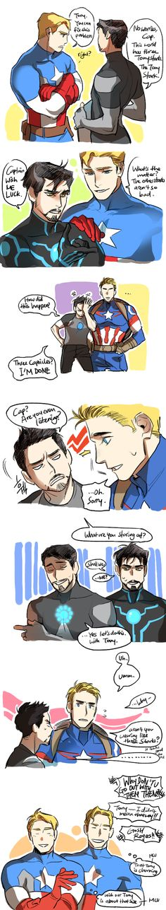 「「Avengers」Steve x Tony comics 2」/「letitrado」の漫画 [pixiv]