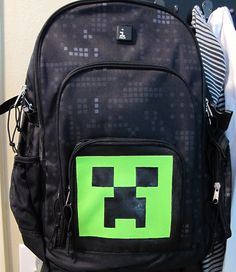Large Backpack Bag Minecraft Creeper PreSchool by BagBagus on Etsy ... d349a301e81dd