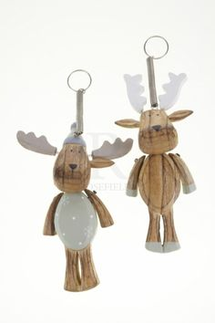 Chunky Wooden Spring Reindeer Mix @ rosefields.co.uk