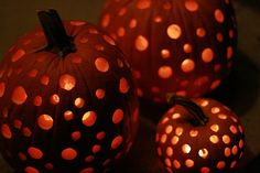 Cut the bottoms instead of the tops. Use a drill. Halloween fun!